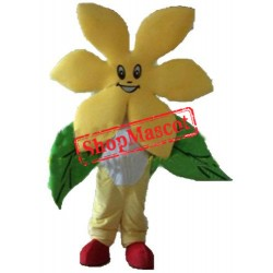 Pretty Yellow Flower Mascot Costume