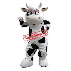 Super Cute Cow Mascot Costume Free Shipping