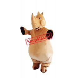 Brown Lightweight Rhino Mascot Costume