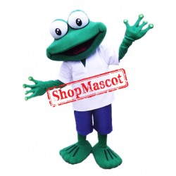 Best Quality Happy Frog Mascot Costume