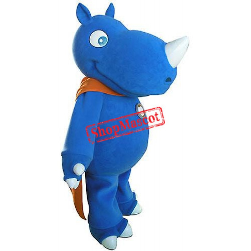High Quality Blue Rhino Mascot Costume