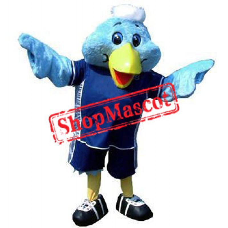 Super Cute Blue Bird Mascot Costume
