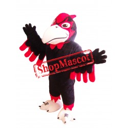 Fierce Black Seahawk Mascot Costume