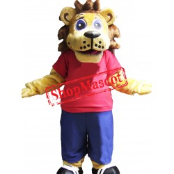 Friendly Sport Lion Mascot Costume