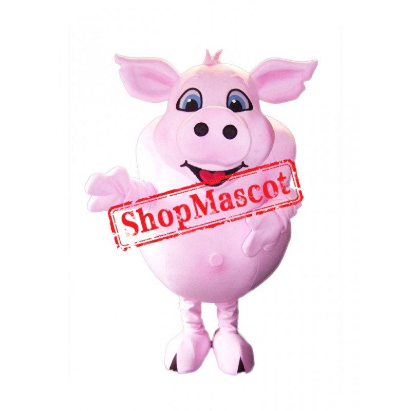 Super Cute Lightweight Pink Pig Mascot Costume