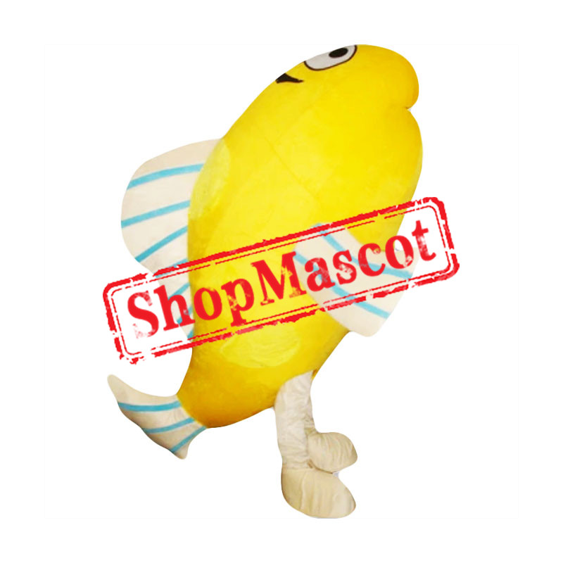 Yellow Little Fish Adult Mascot Costume