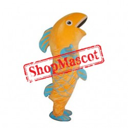 Yellow & Blue Fish Mascot Costume