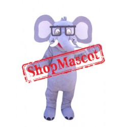Friendly Lightweight Elephant Mascot Costume