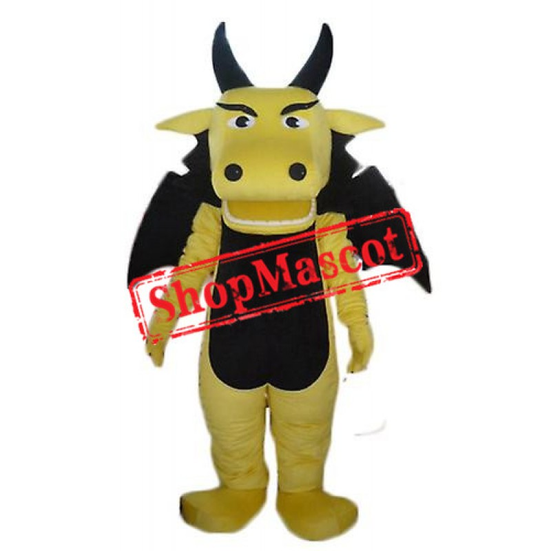 Cheap Yellow Dragon Mascot Costume