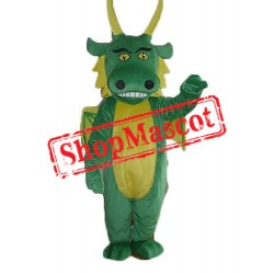 Green & Yellow Dragon Mascot Costume