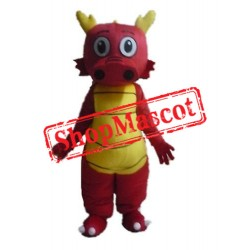 Super Cute Red Dragon Mascot Costume