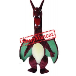 Fierce Lightweight Red Dragon Mascot Costume
