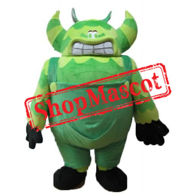 Cheap Green Monster Mascot Costume