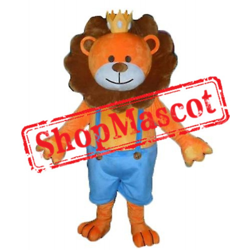 Cheap Lightweight Brown Lion Mascot Costume
