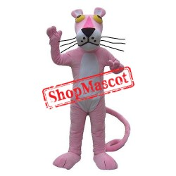 Cartoon Pink Panther Mascot Costume