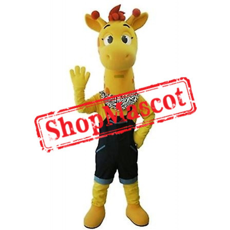 Super Cute Lightweight Yellow Giraffe Mascot Costume