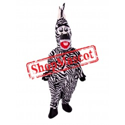 Friendly Lightweight Zebra Mascot Costume