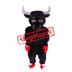 Black Boxing Bull Mascot Costume
