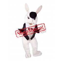 Gentleman's White Rabbit Mascot Costume