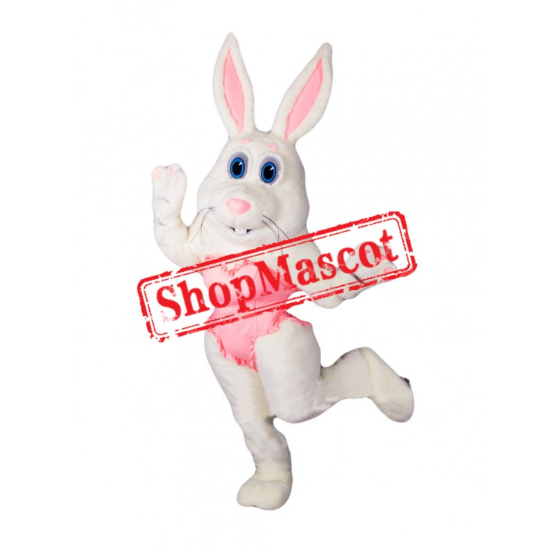 Dancing White Rabbit Mascot Costume