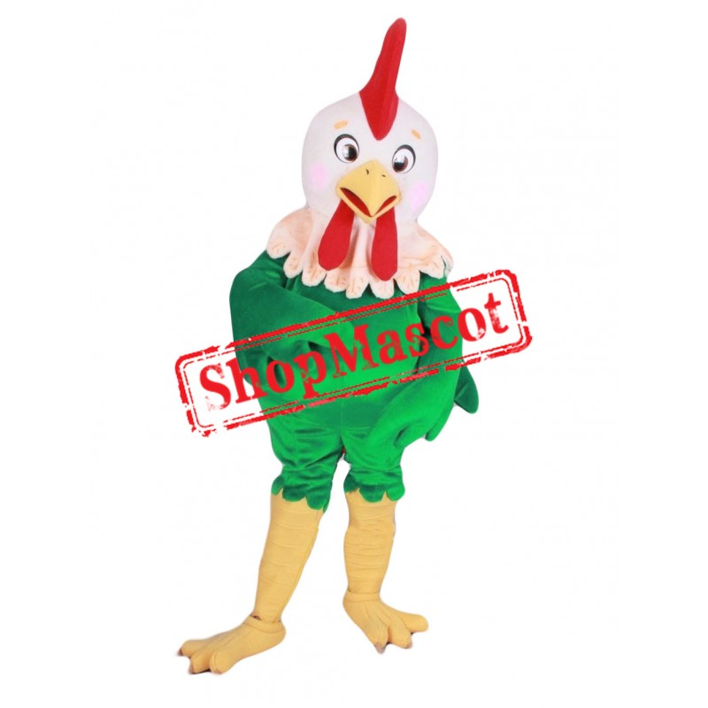 Top Quality Green Chicken Mascot Costume