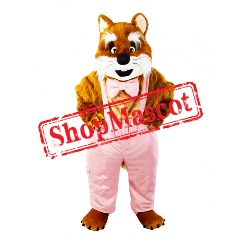 Brown & White Cat Mascot Costume
