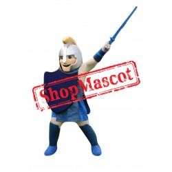 Happy Lightweight Warrior Mascot Costume