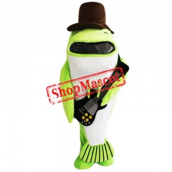Green Fish Mascot Costume
