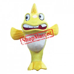 Cute Lightweight Yellow Fish Mascot Costume