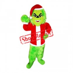 Christmas Grinch Mascot Costume