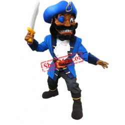 High Quality Blue Pirate Mascot Costume