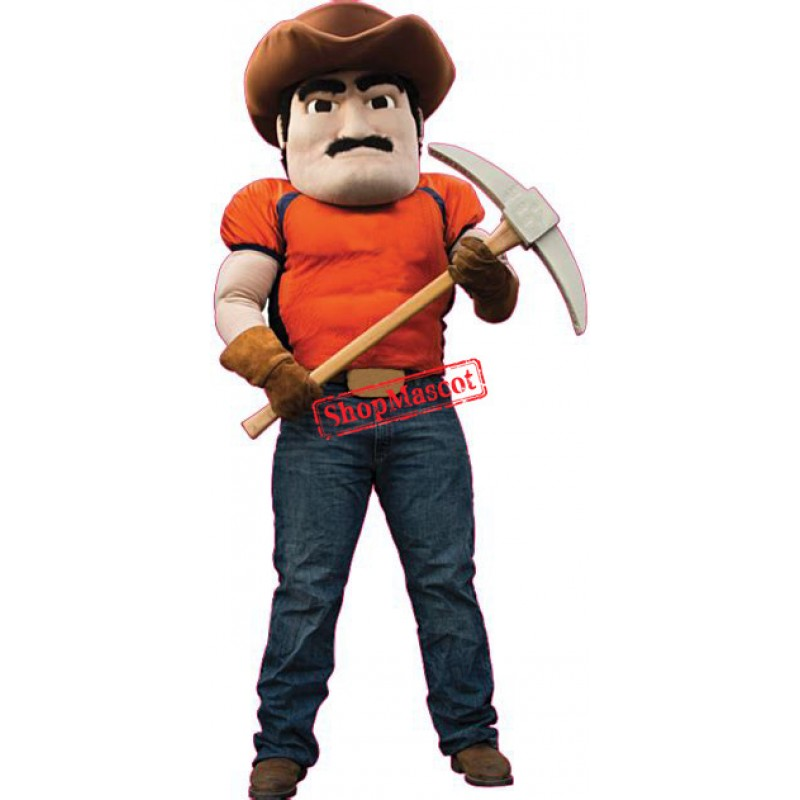 High Quality Miner Mascot Costume