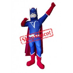 Blue Captain Mascot Costume