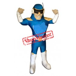 Happy Lightweight Blue Captain Mascot Costume
