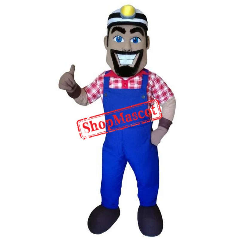 High Quality Lightweight Miner Mascot Costume