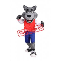 Friendly College Wolf Mascot Costume