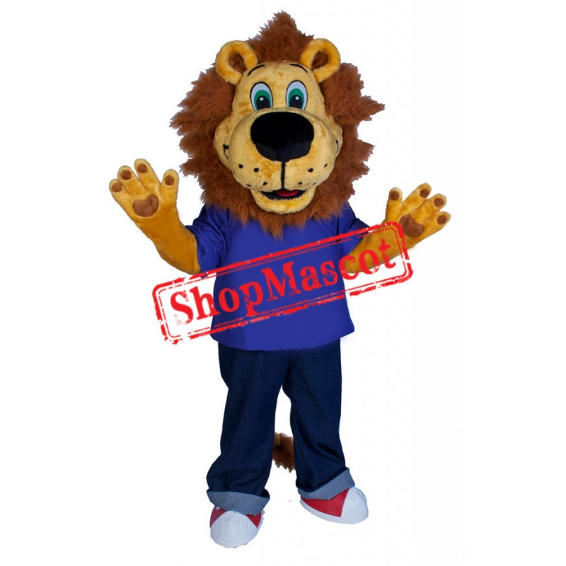 Lovely College Lion Mascot Costume