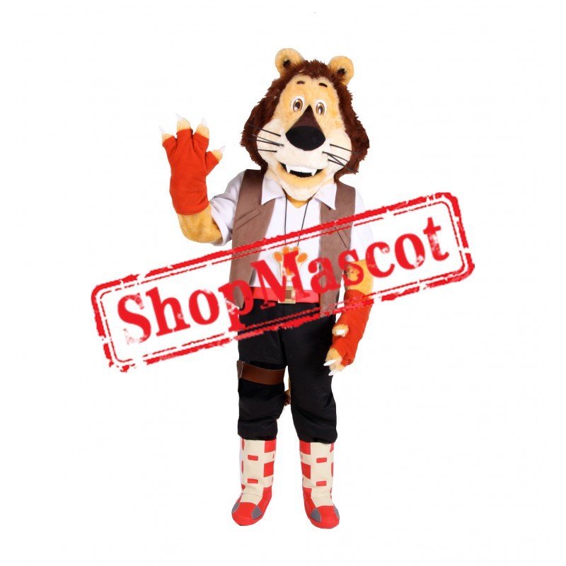 Cute College Lightweight Lion Mascot Costume