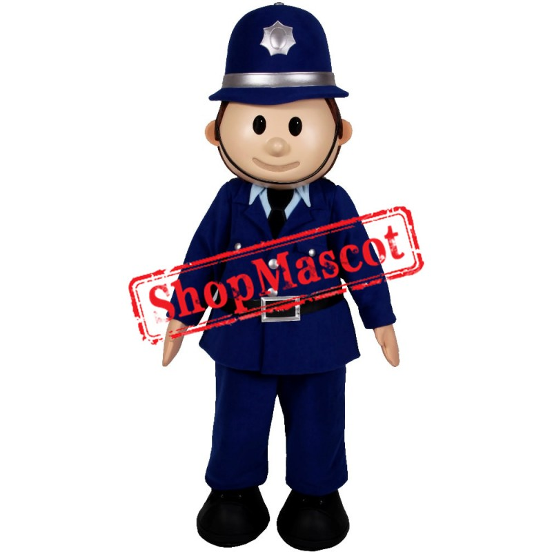 Happy Lightweight Policeman Mascot Costume