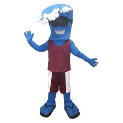 Blue Wave Mascot Costume