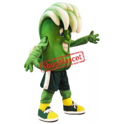 Green Wave Mascot Costume