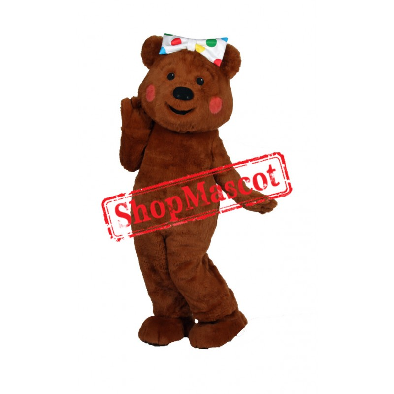 Coffee Bear Mascot Costume Free Shipping