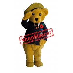 Soldier Bear Mascot Costume Free Shipping