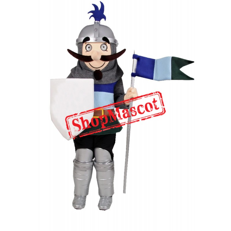 Happy Lightweight Knight Mascot Costume