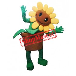 Sunflower Plant Mascot Costume