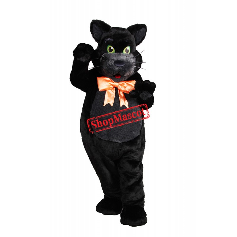 Super Cute Black Cat Mascot Costume