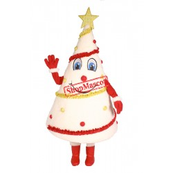 White Christmas Tree Mascot Costume