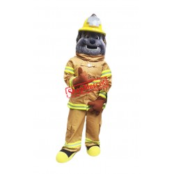 Fire Dept Bulldog Mascot Costume