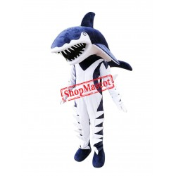 Fierce Blue Shark Mascot Costume