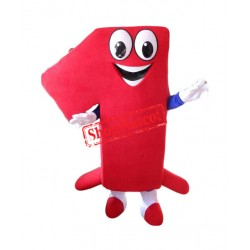 Number One Mascot Costume Free Shipping